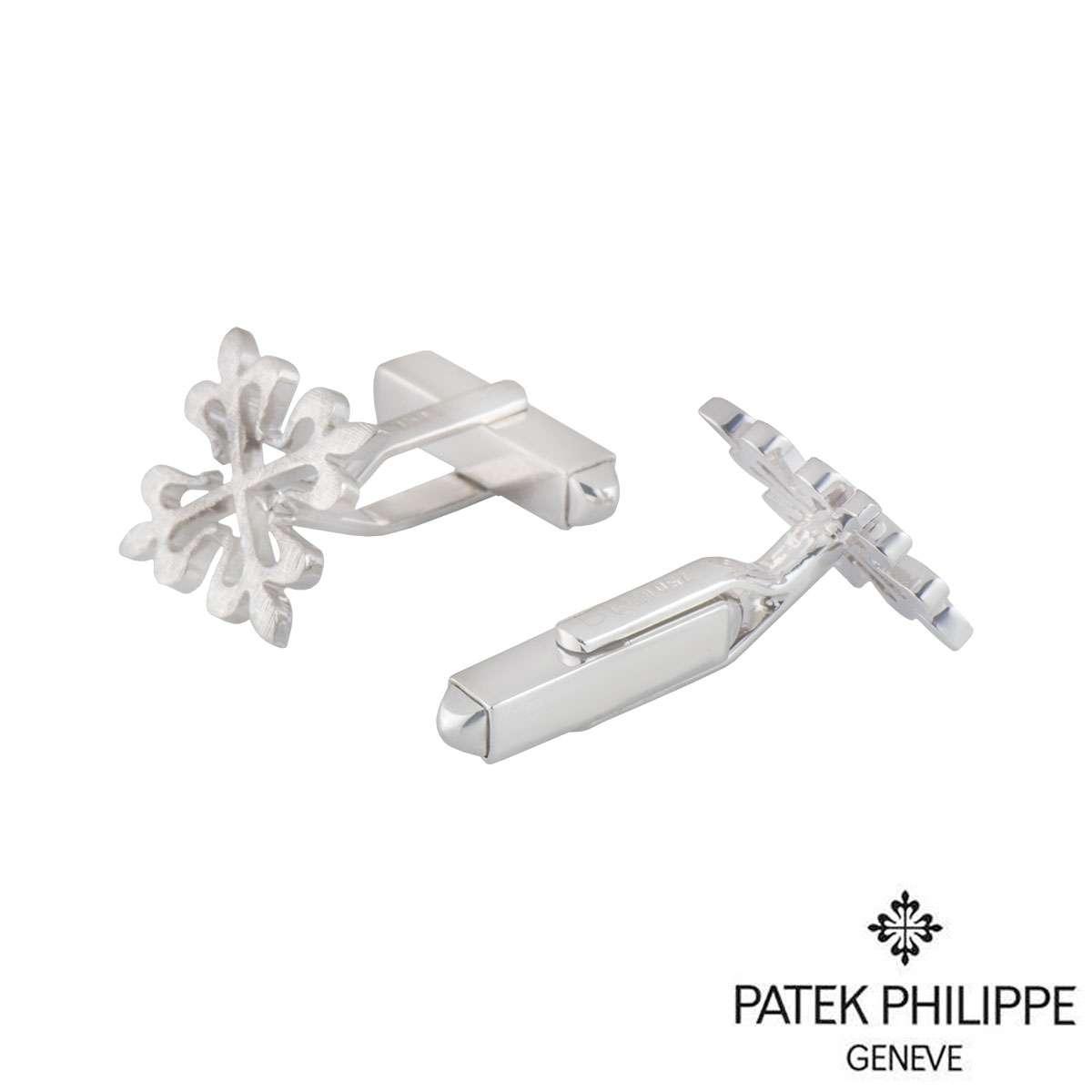 Patek Philippe White Gold Calatrava Cross Cufflinks